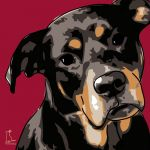 Canvas Print ROTTWEILER BORDEAUX