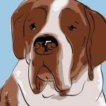 Canvas Print ST. BERNHARD LIGHT BLUE