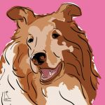 Canvas Print COLLIE PINK