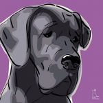 Canvas Print GREAT DANE VIOLET