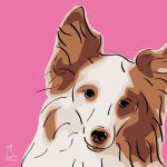 Canvas Print SHELTIE PINK