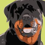 Canvas Print ROTTWEILER LIME