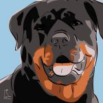 Canvas Print ROTTWEILER LIGHT BLUE