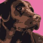 Canvas Print LABRADOR RETRIEVER PINK