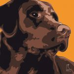 Canvas Print LABRADOR RETRIEVER ABRICOT