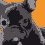 Canvas Print FRENCH BULLDOG ABRICOT