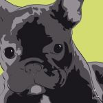 Canvas Print FRENCH BULLDOG LIME