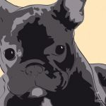 Canvas Print FRENCH BULLDOG GOLD