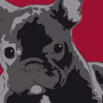 Canvas Print FRENCH BULLDOG BORDEAUX
