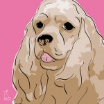 Canvas Print AMERICAN COCKER SPANIEL PINK