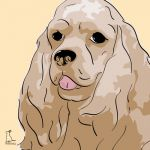 Canvas Print AMERICAN COCKER SPANIEL GOLD