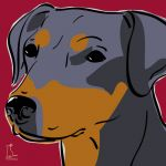 Canvas Print MINIATURE PINSCHER BORDEAUX