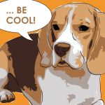 Canvas Print BEAGLE ABRICOT
