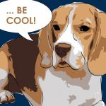 Canvas Print BEAGLE DARK BLUE