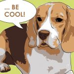 Canvas Print BEAGLE LIME