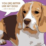 Canvas Print BEAGLE VIOLET