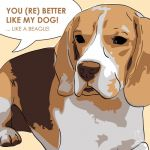Canvas Print BEAGLE GOLD