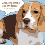 Canvas Print BEAGLE LIGHT BLUE