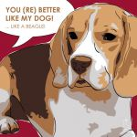 Canvas Print BEAGLE BORDEAUX