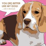 Canvas Print BEAGLE PINK