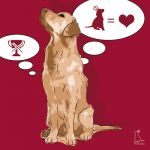 Canvas Print GOLDEN RETRIEVER BORDEAUX