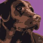 Canvas Print LABRADOR RETRIEVER VIOLET