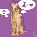 Canvas Print GOLDEN RETRIEVER VIOLET