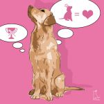 Canvas Print GOLDEN RETRIEVER PINK