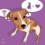 Canvas Print JACK RUSSELL TERRIER VIOLET