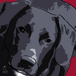 Canvas Print LABRADOR RETRIEVER BORDEAUX