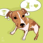Canvas Print JACK RUSSELL TERRIER LIME