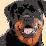 Canvas Print ROTTWEILER GOLD